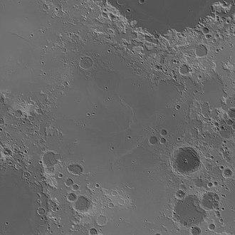 Mare Fecunditatis - Image: Fecunditatis basin topo