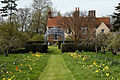 Feeringbury Manor garden path and gazebo, Feering Essex England.jpg