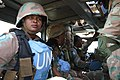Female combat troops of South African Contingent in MONUSCO on robust foot and moblile patrols 32.jpg