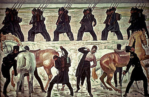 The Students of Jena Take to the Field in the War of Liberation, 1813 (Ferdinand Hodler, 1908-09)