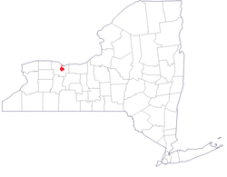 Location of Rochester in New York State
