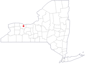 Rochester Police Department - Image: File Map of New York highlighting Rochester