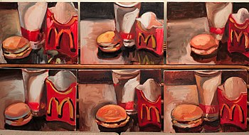 Painting of McDonald's meals. Work by Dutch ar...