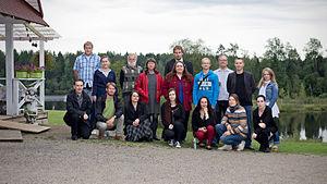 Estonian Wikipedia - Image: Finno ugric wikiseminar 2014 participants
