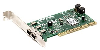 IEEE 1394 - A PCI expansion card that contains two FireWire 400 connectors.