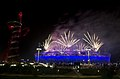 Fireworks light up Olympic Stadium in London during the opening ceremonies of the Paralympic Games Aug. 29, 2012 120829-F-FD742-260.jpg
