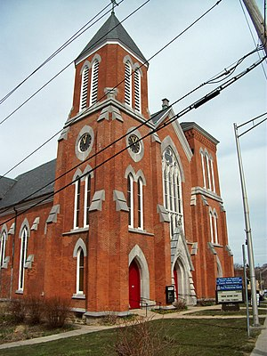 Downtown Ossining Historic District - Image: First Presbyterian Church, Ossining, NY