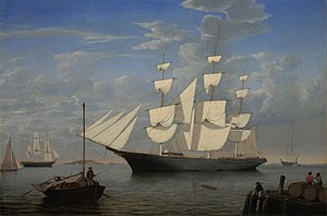 Starlight (clipper) - Starlight in harbor, by Fitz Hugh Lane