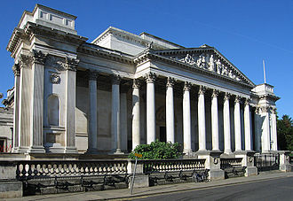 Fitzwilliam Museum - The main entrance to the Fitzwilliam Museum, facing Trumpington Street.