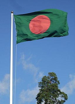 Flag of Bangladesh and tree