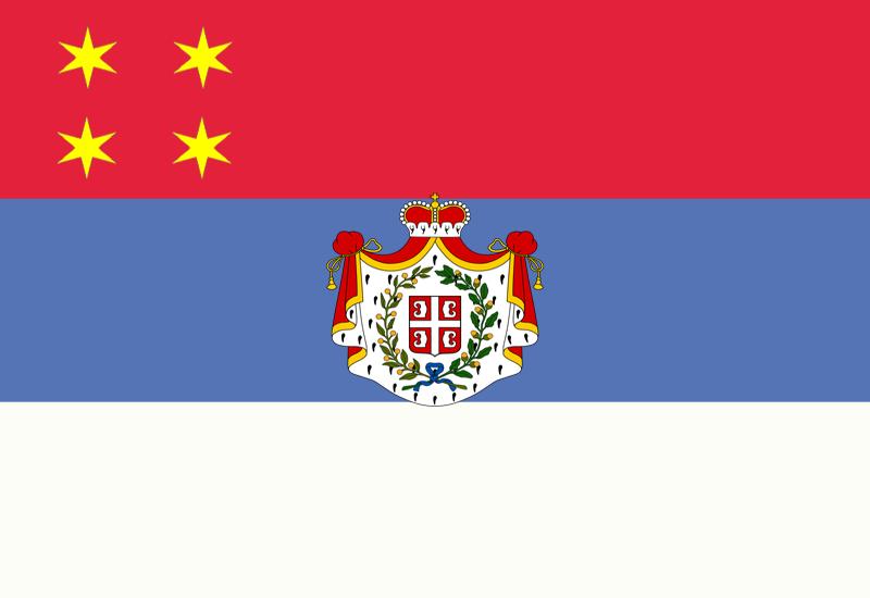 Flag of Serbia (1838)