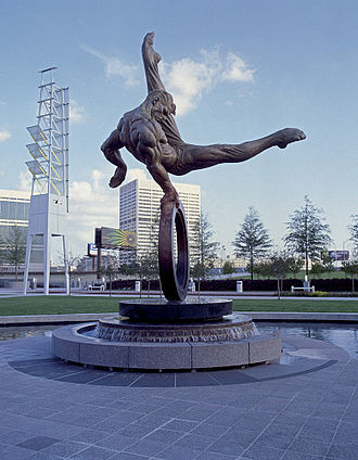 The Flair Monument, erected in remembrance of the 1996 Games Flair monument.jpg