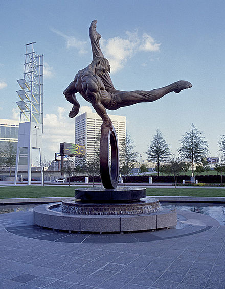 The Flair Monument, erected in remembrance of the games Flair monument.jpg
