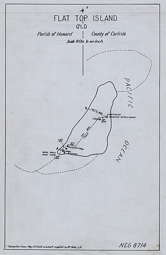 Flat Top Island Light - Plan of Flat Top Island, showing the location of the lighthous