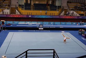 Artistic gymnastics - Néstor Abad's on floor exercise in 2010.