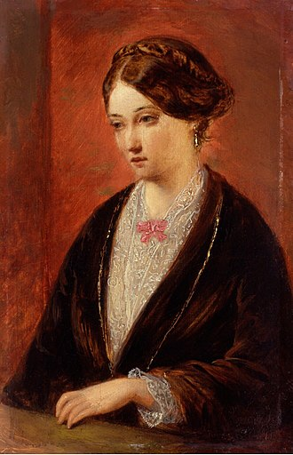Florence Nightingale - Painting of Nightingale by Augustus Egg, c. 1840s