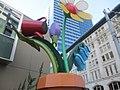Flowerpot sculpture in downtown Seattle (7967352090).jpg