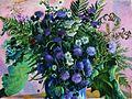Flowers by Boris Mikhailovich Kustodiev - 1917.jpg
