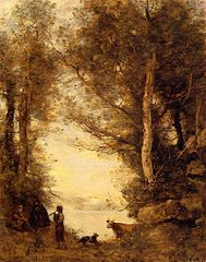 Le joueur de flûte du lac d'Albano