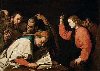 Profession - Image: Follower of Ribera Christ among the Doctors