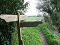 Footpath sign, Rockbourne - geograph.org.uk - 740361.jpg