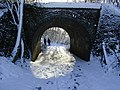 Footpath under a bridge of the Alban Way in winter - geograph.org.uk - 868240.jpg
