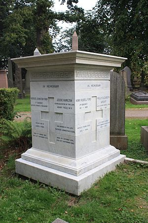 Sir Patrick Ford, 1st Baronet - Ford baronets grave, Dean Cemetery