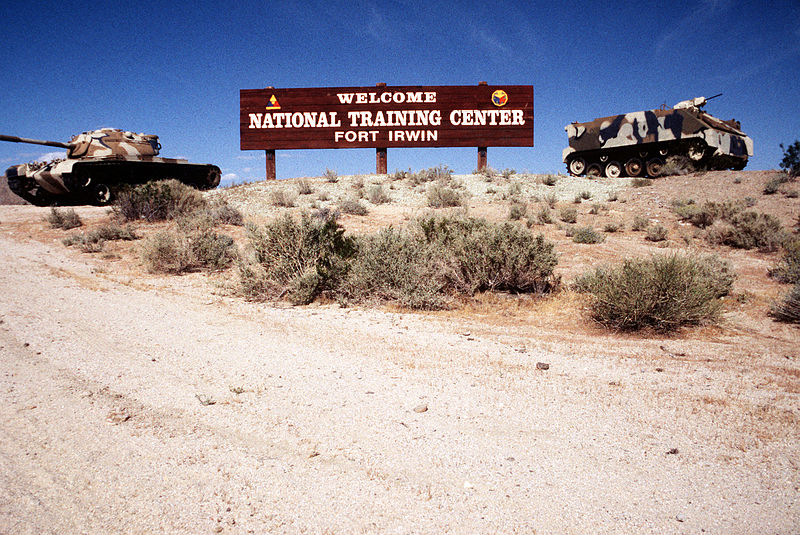 National Training Center at Fort Irwin, Mojave Desert