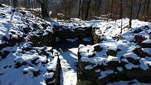 Fort Montgomery (Hudson River) - Foundation of magazine