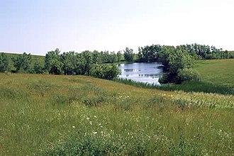 Fort Pierre National Grassland - Image: Fort Pierre Grassland pond