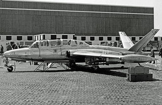 Fouga CM.170 Magister - The first CM.170M development aircraft for the Aéronavale at the Paris Air Show in May 1957