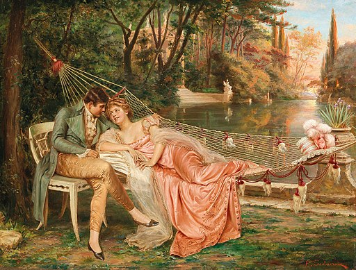 Frédéric Soulacroix - Flirting in the Park of the Villa Borghese, Rome