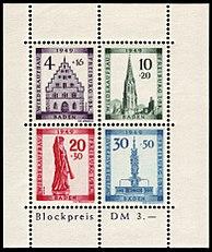 Briefmarken Ausgaben Der Französischen Zone Baden Wikipedia