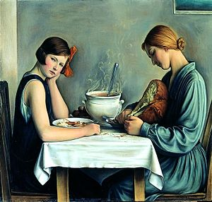 "François Barraud - ""La Tailleuse de Soupe"", 1933, Oil on canvas"