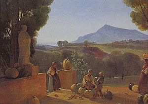 François Marius Granet - La récolte des citrouilles à la Bastide de Malvalat