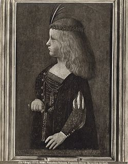 eldest son of Gian Galeazzo Sforza, duke of Milan, and Isabella of Naples