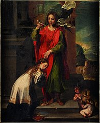 Saint Ansano baptisant une Siennoise