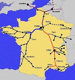 Saobracaj U Francuskoj Vikipedija Slobodna Enciklopedija