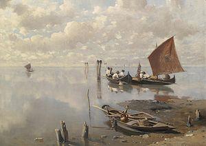 Franz Leo Ruben Fischer in der Lagune 1891.jpg