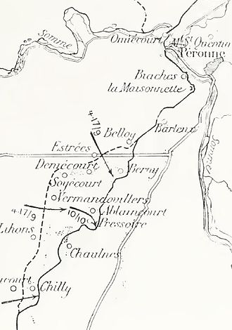 Battle of Flers–Courcelette - Image: French operations, south bank of the Somme, 1916