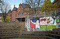 Friedrich-Gymnasium Freiburg (im Breisgau) Rückseite (Südseite) und Schulhof 01.jpg