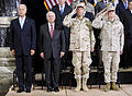 From left, U.S. Vice President Joe Biden, Secretary of Defense Robert M. Gates, Chairman of the Joint Chiefs of Staff Navy Adm. Mike Mullen and Marine Corps Gen. James N. Mattis, commander of U.S. Central 100901-F-DQ383-028.jpg