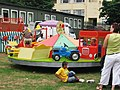 Fun fair on Spring Lane School playing fields - geograph.org.uk - 823383.jpg