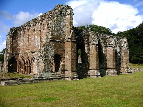 Furness Abbey in Cumbria; dissolved in 1537 and the first of the larger houses to be dissolved by voluntary surrender Furness Abbey - geograph.org.uk - 42919.jpg