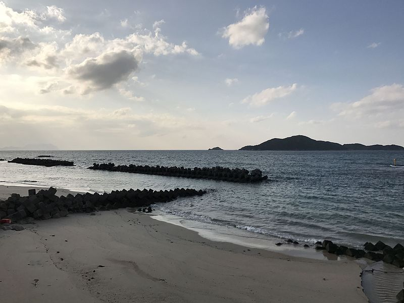 File:Futaoijima Island and Atsushima Islands from Hibikibashi Bridge.jpg