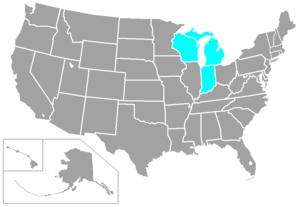 Great Lakes Intercollegiate Athletic Conference - Image: GLIA Cstates