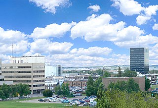 Grande Prairie City in Alberta, Canada