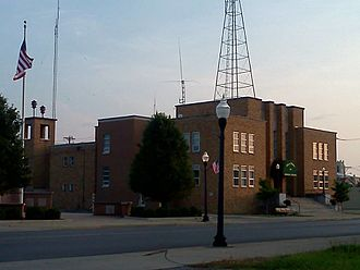 Galion, Ohio - Galion's Municipal Building on Harding Way East, which houses the City's administrative offices as well as the Police and Fire departments.