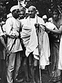 Gandhi arrives at Simla to discuss the international situation with local Congress authorities and the Viceroy.jpg