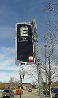 Gate E sign, Littleton Downtown Station.jpg
